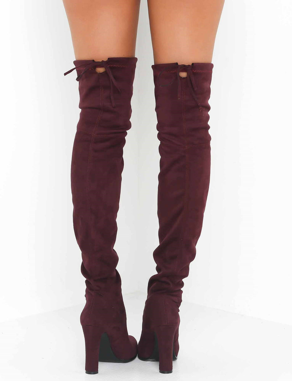 Vanessa Thigh High Boot - Plum