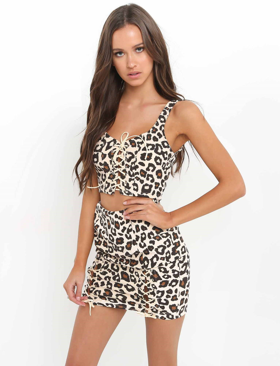Wild Hearts Skirt - Leopard