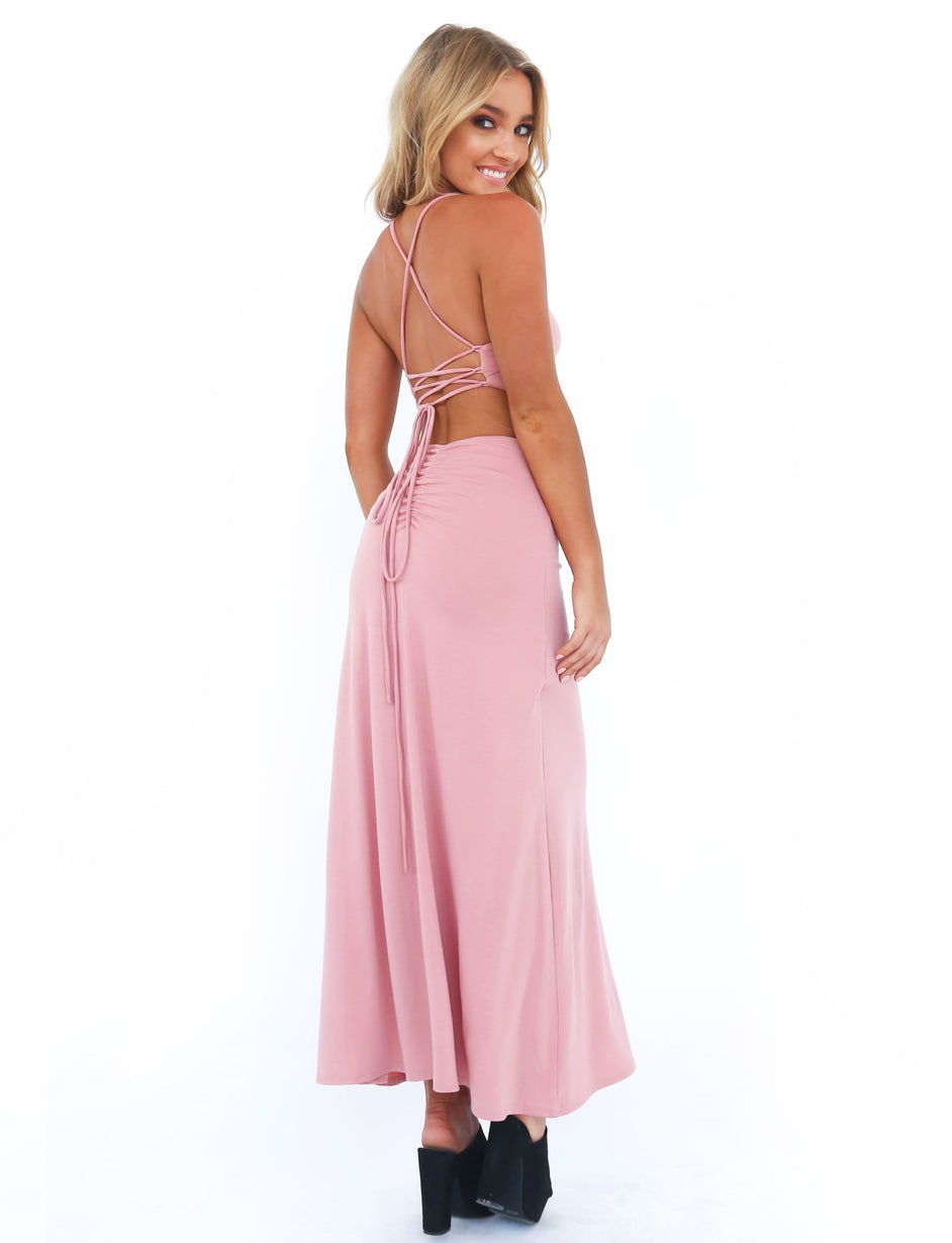 Near And Far Dress - Coral