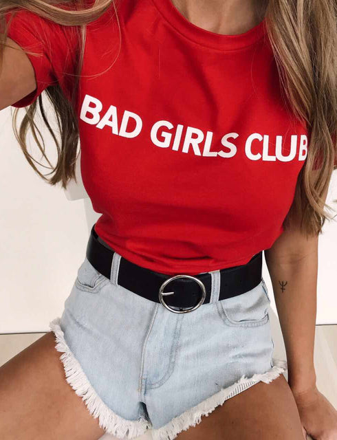 Bad Girls Tee - Cherry Red