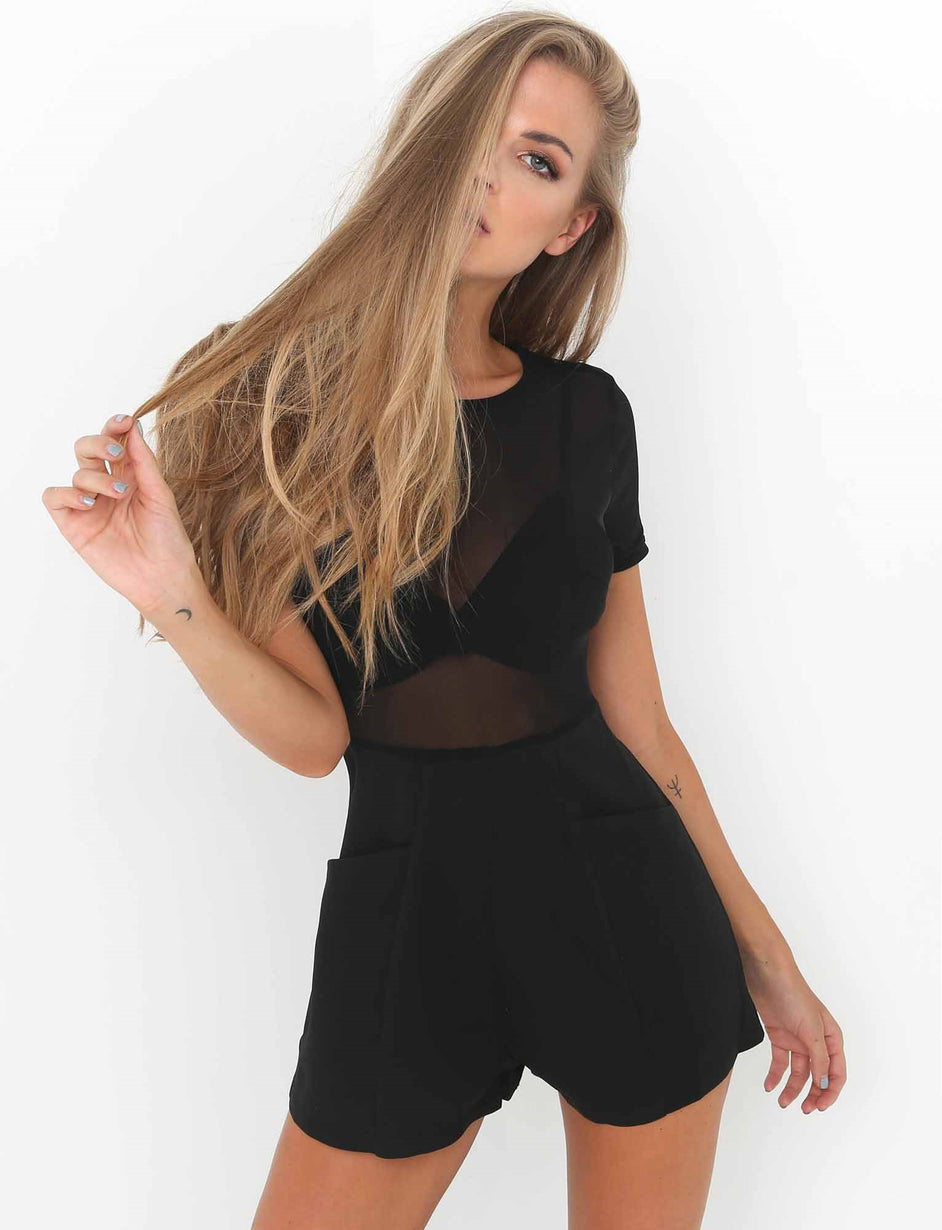 496b114eafe5 Buy Our Selina Playsuit in Black Online Today! - Tiger Mist