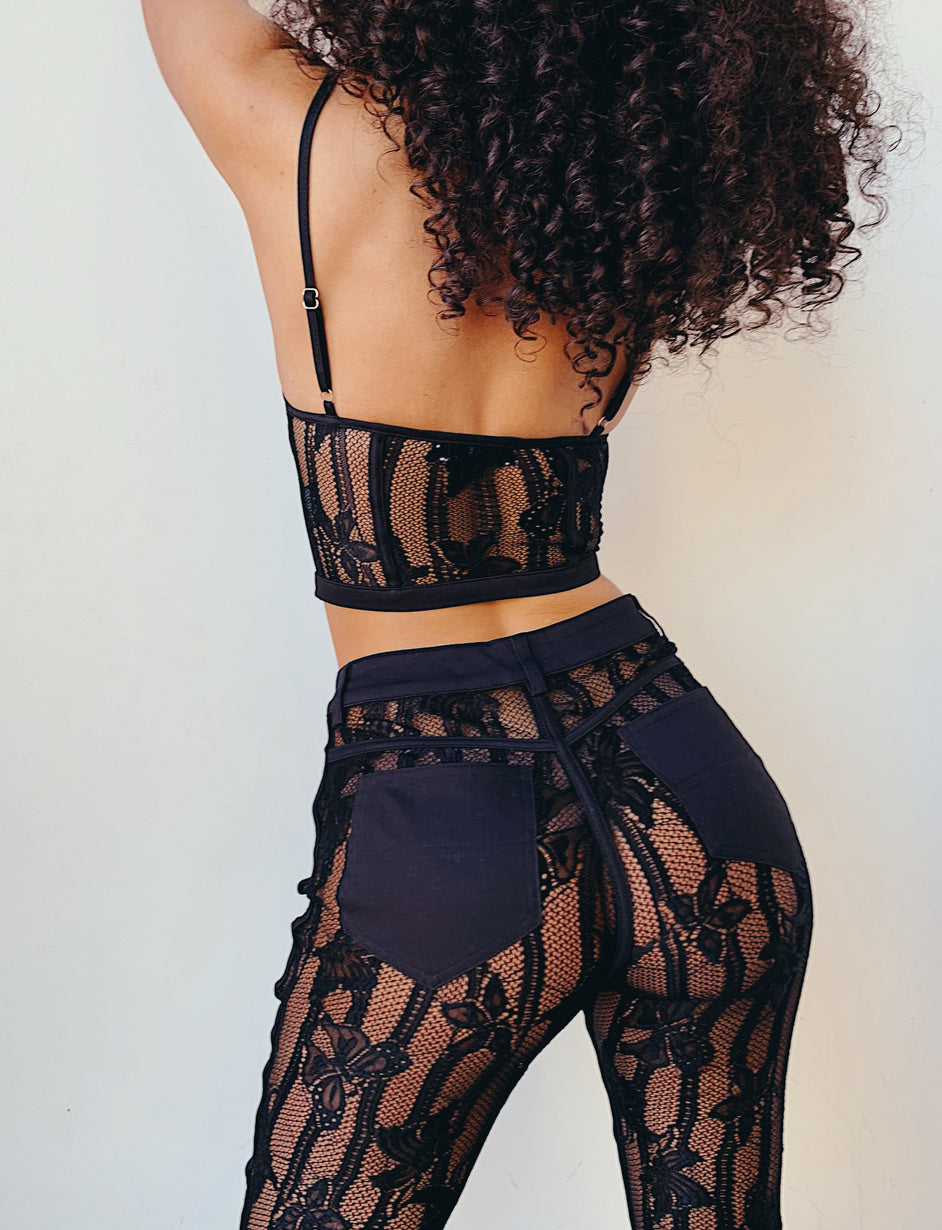 Yves Top - Black Lace