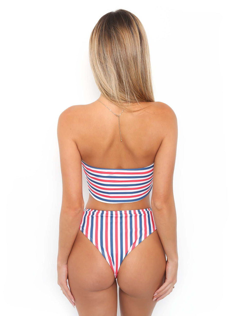 Sail Away Bikini Top - Stripe