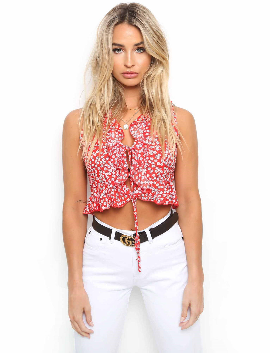 Polka Blouse - Red