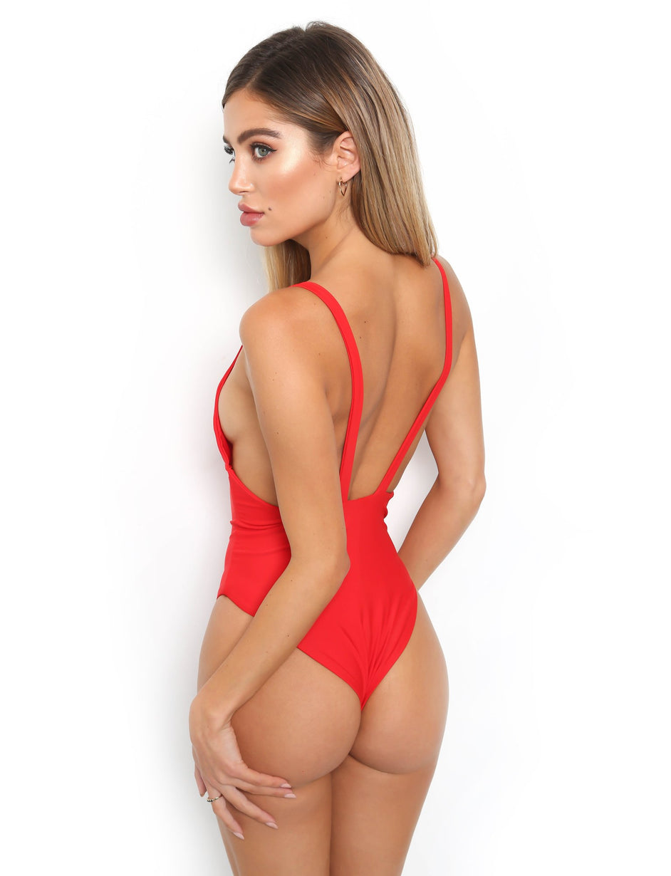 Saffron Bodysuit - Red