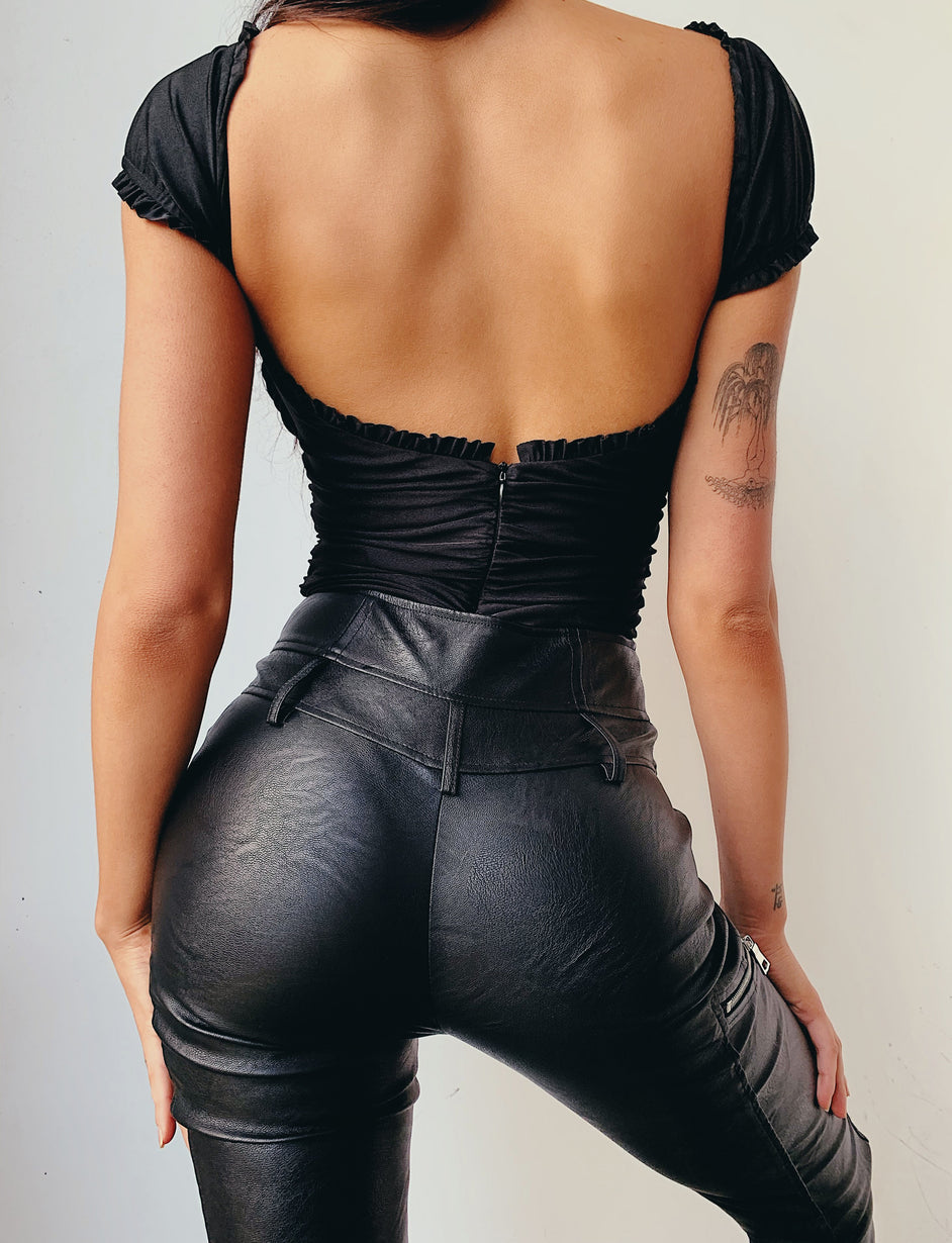 Pierre Bodysuit - Black