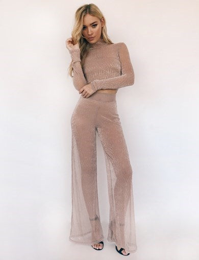 Bell Pant - Blush Metallic