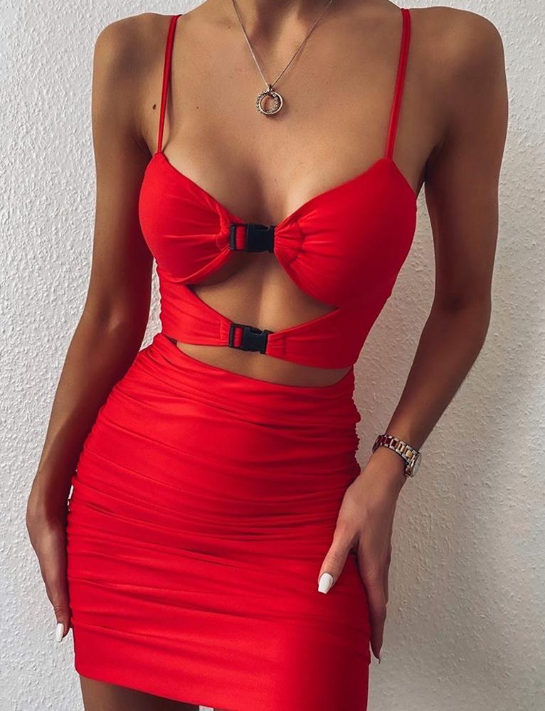Element Dress - Red