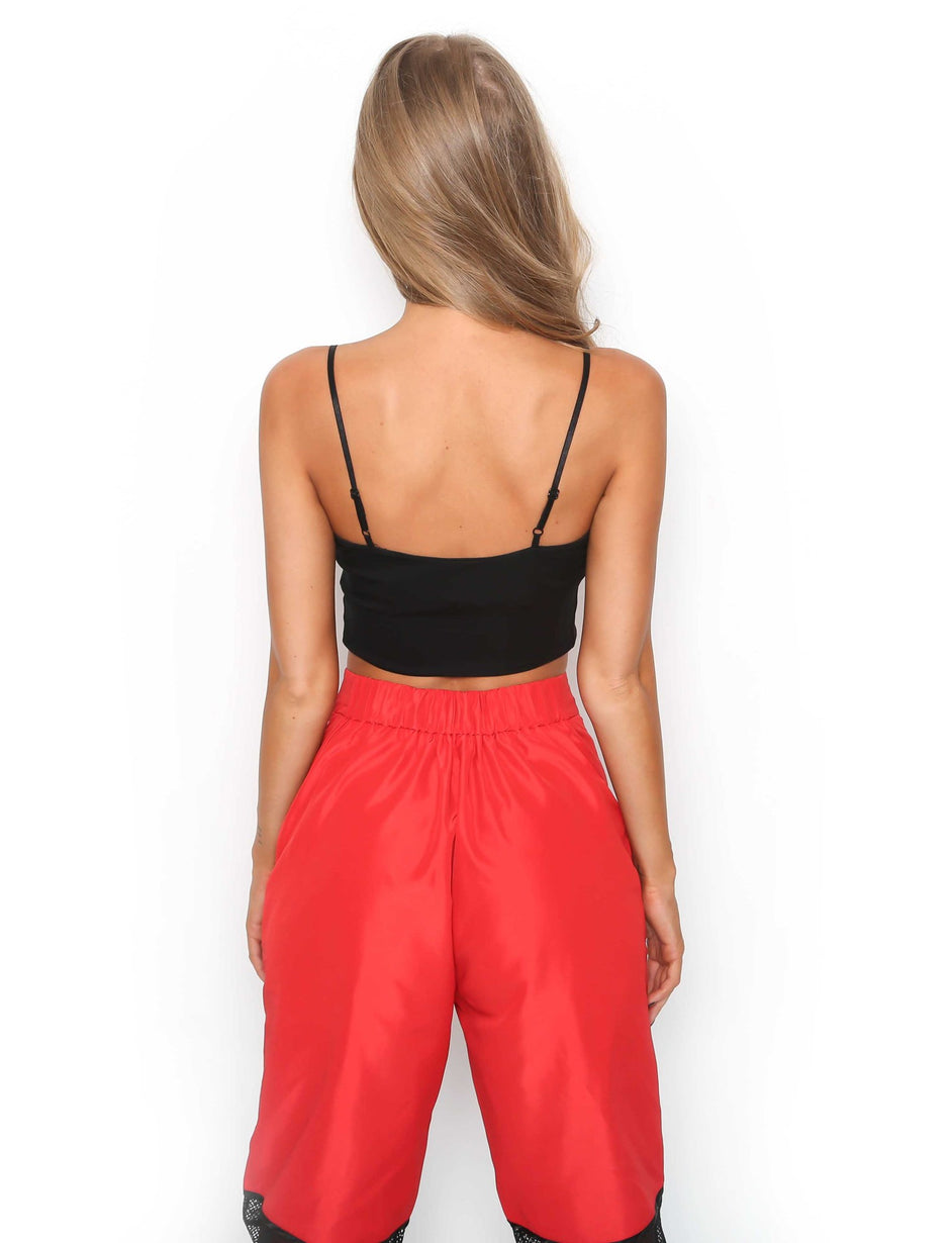 Samurai Crop - Black