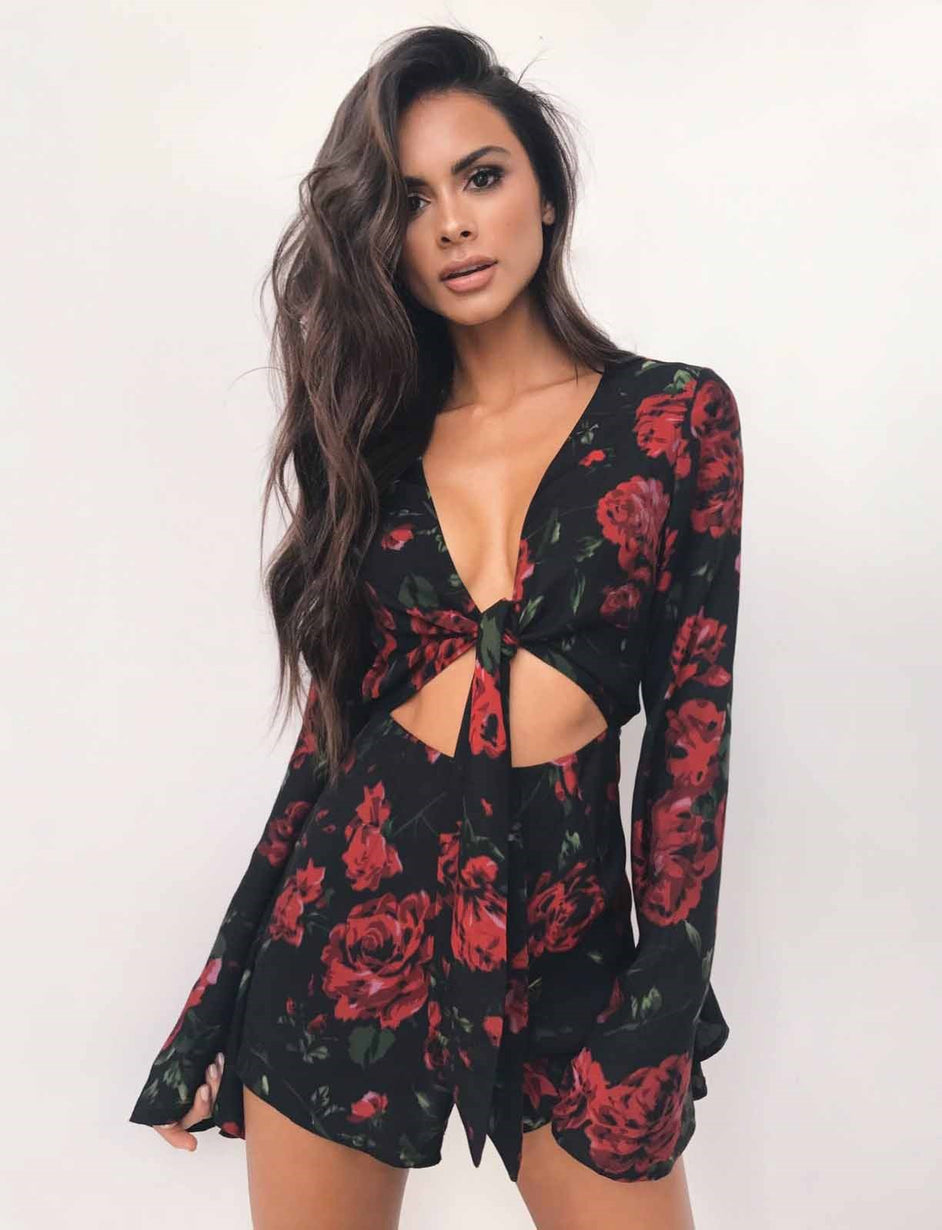 b972c0db99eb Buy Our Rosa Playsuit in Black Red Rose Online Today! - Tiger Mist