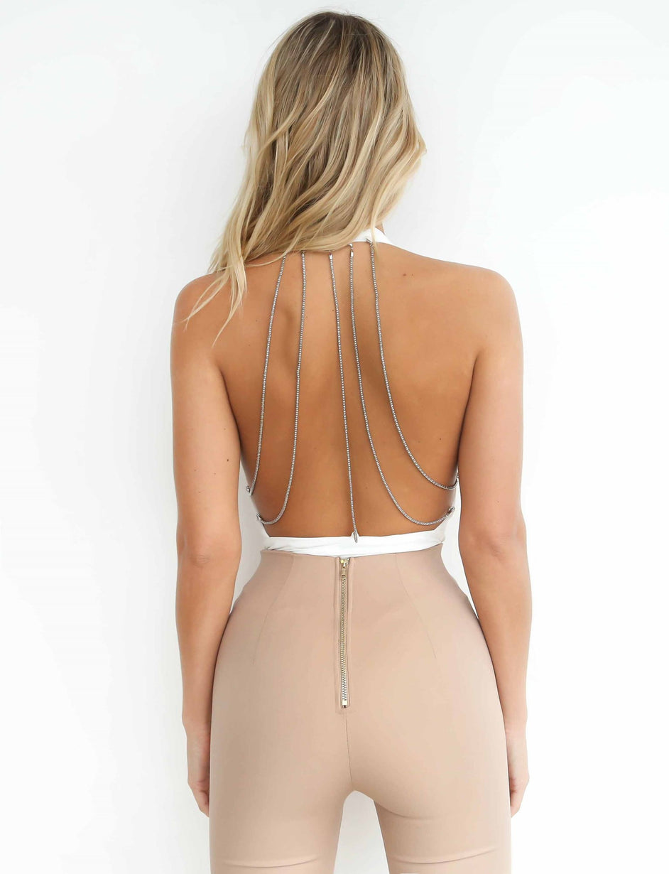 Glow Up Bodysuit - White