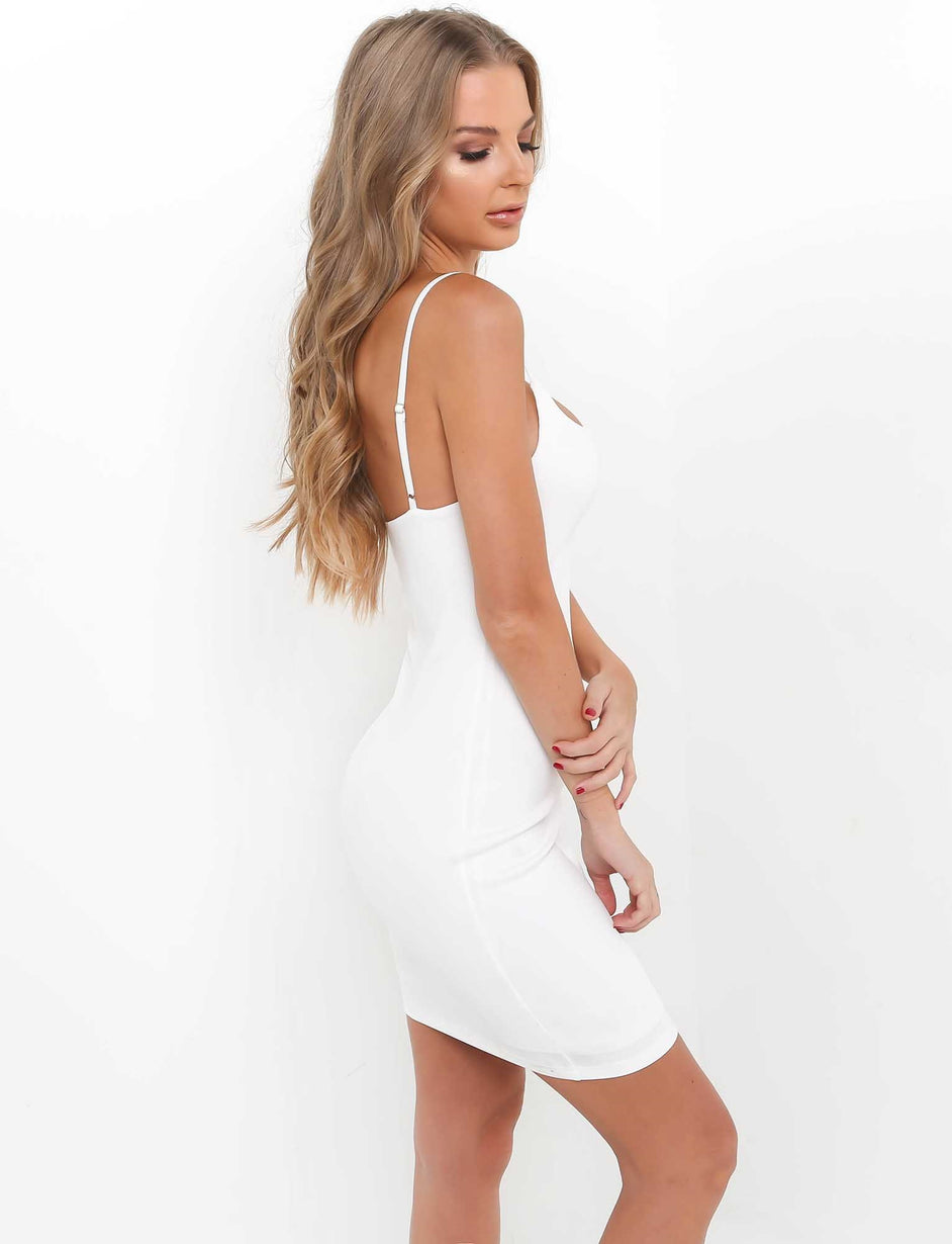 Take Control Dress - White