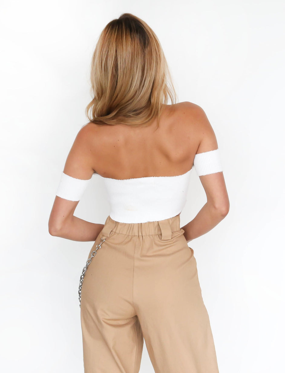 Angel Crop - White