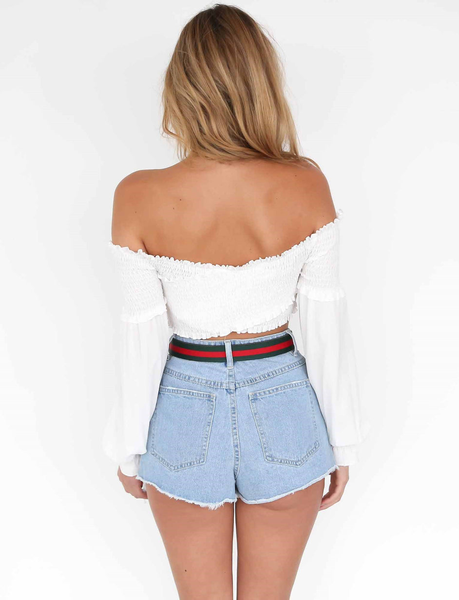 Temptations Crop - White