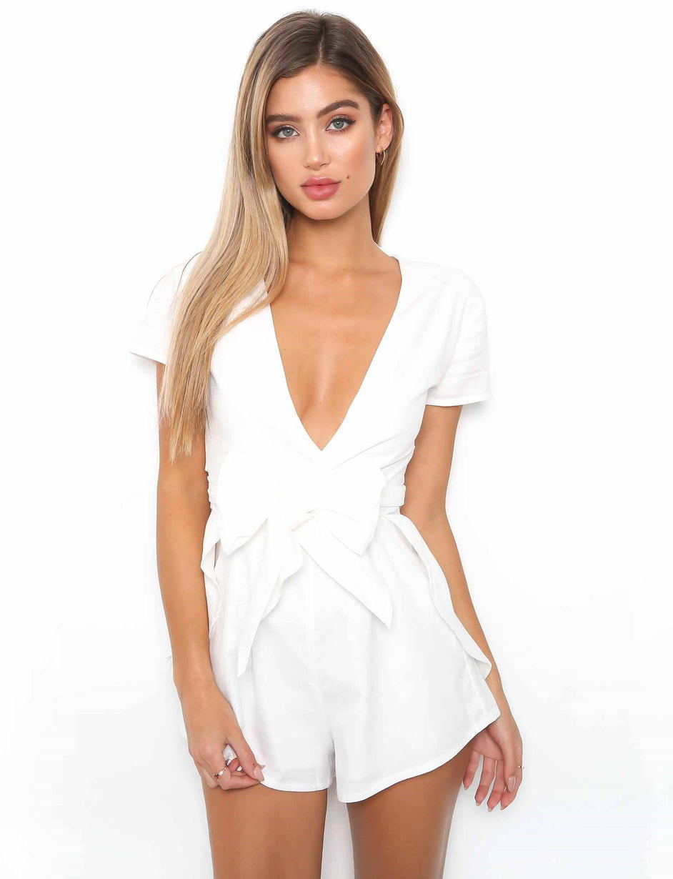 Dreamy Playsuit - White