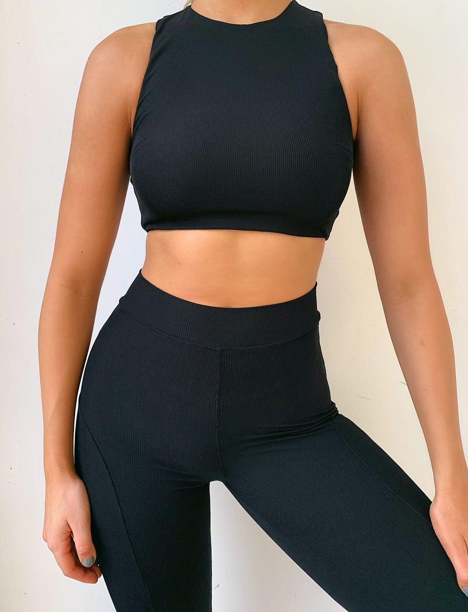 Maja Rib Tight - Black