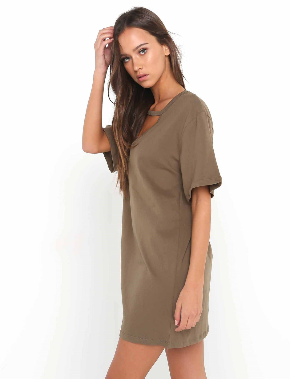Vendetta Dress - Khaki