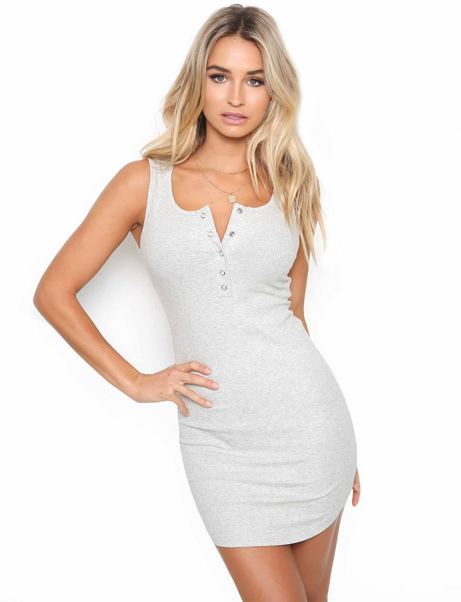 Amelia Mini Dress - Grey