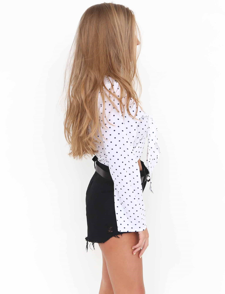 Trouble Blouse - White