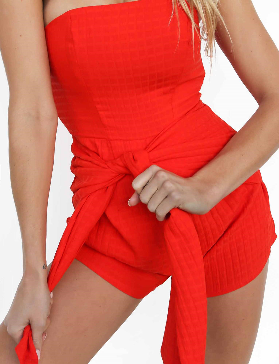Mambo Playsuit - Red