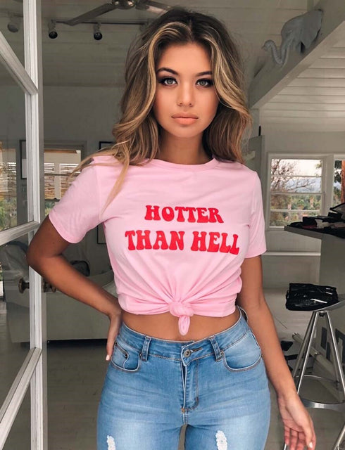 Hotter Than Hell Tee - Pink