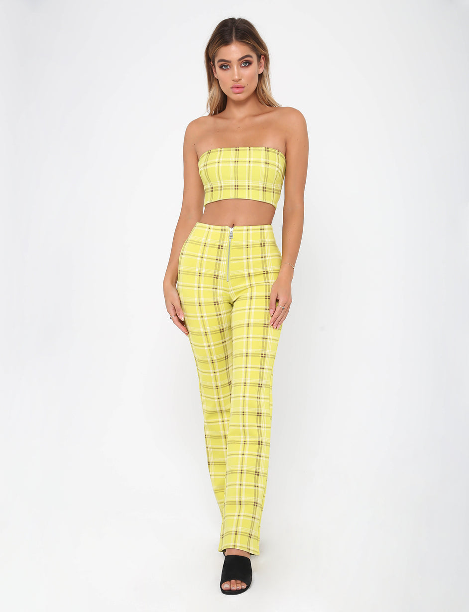 Polaris Pant - Green Plaid