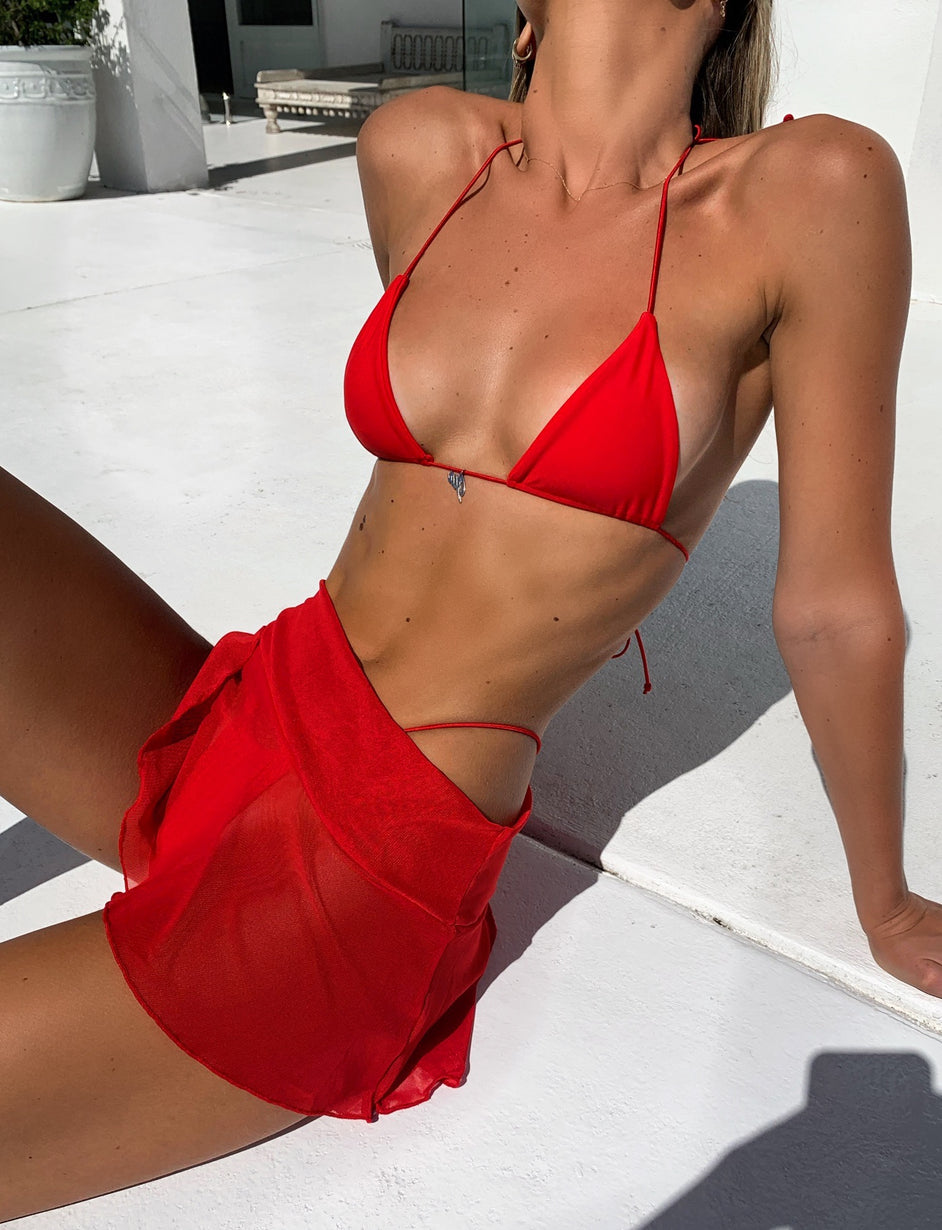 BAMBI SWIM SKIRT - RED