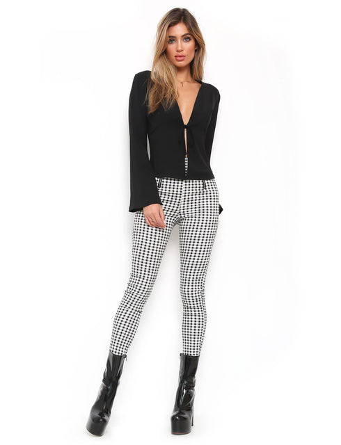 Miller Pant - Black White Gingham