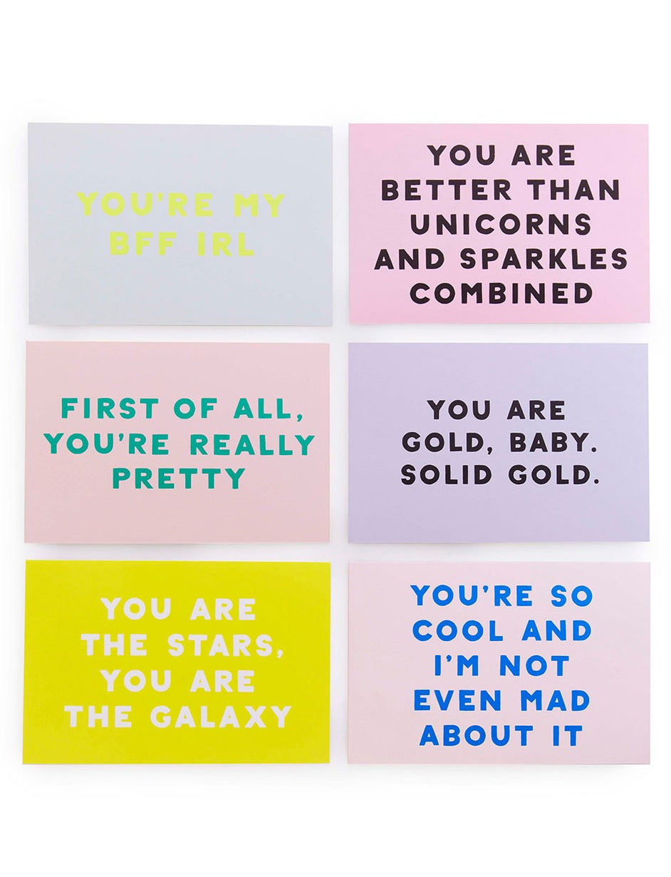 Compliment Postcards Book - Assorted
