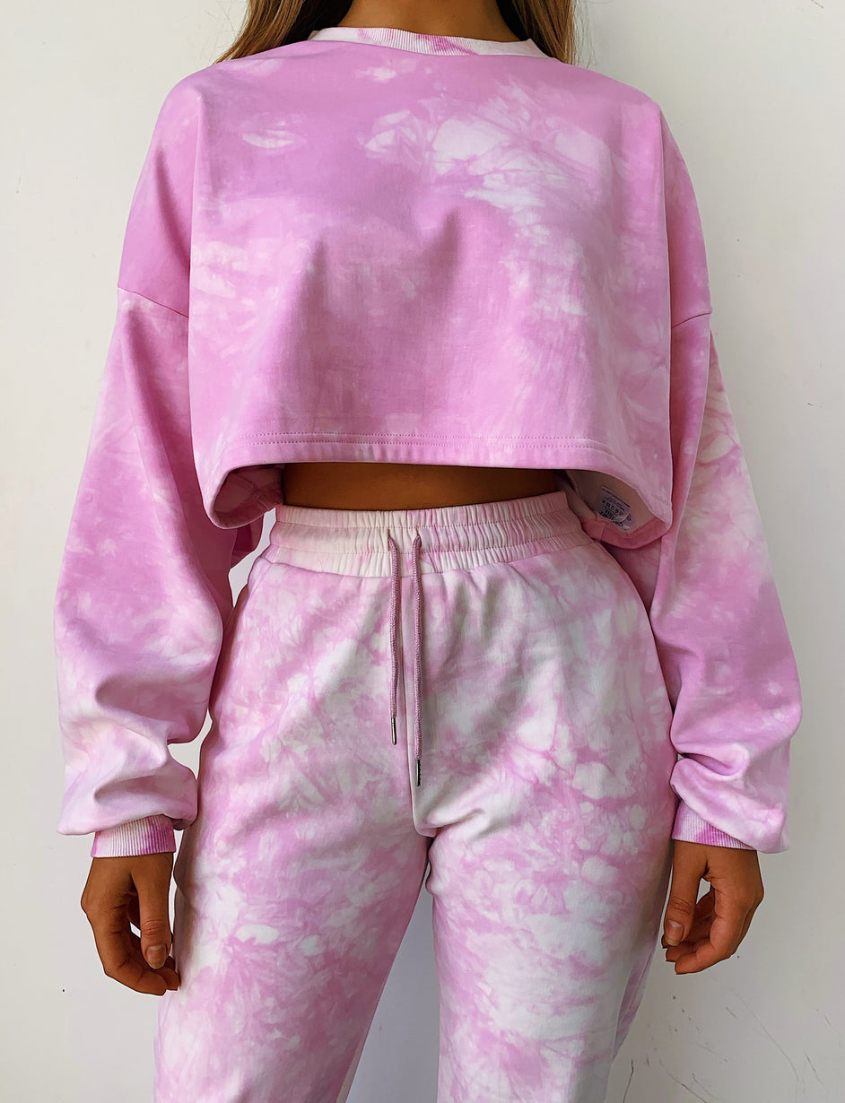 Shari Cropped Jumper - Purple