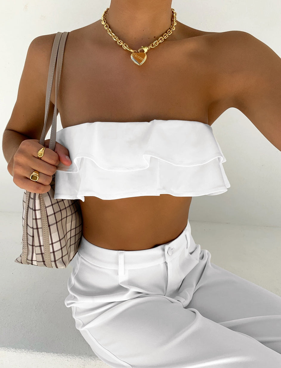 COURTNEY TOP - WHITE