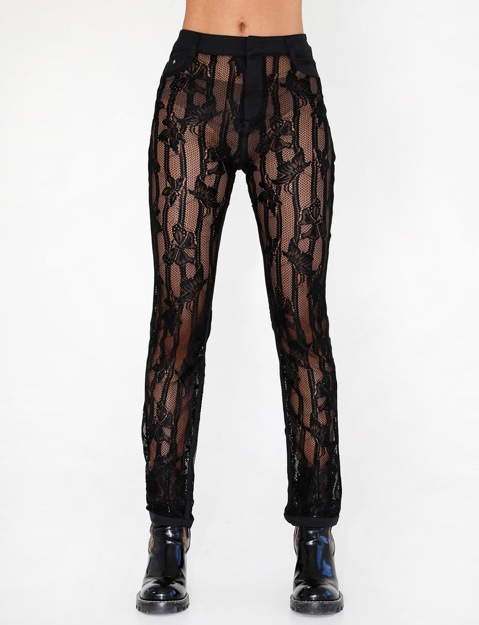Yves Pant - Black Lace