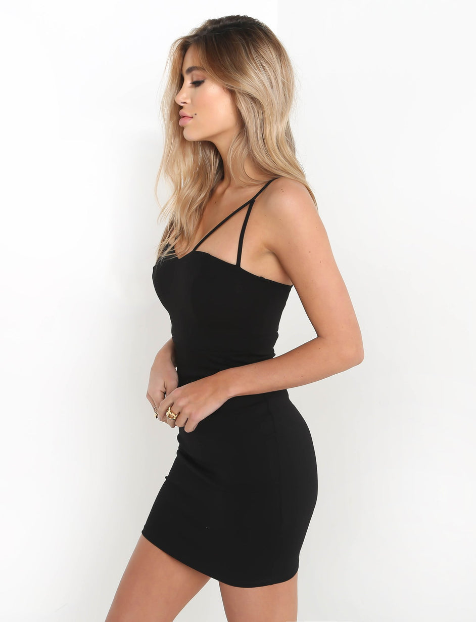 Heart To Heart Dress - Black