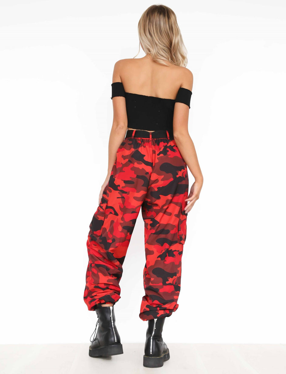 Pit Viper Pant - Red Camo Print