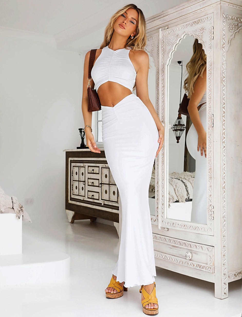 KIMMIE SKIRT - WHITE