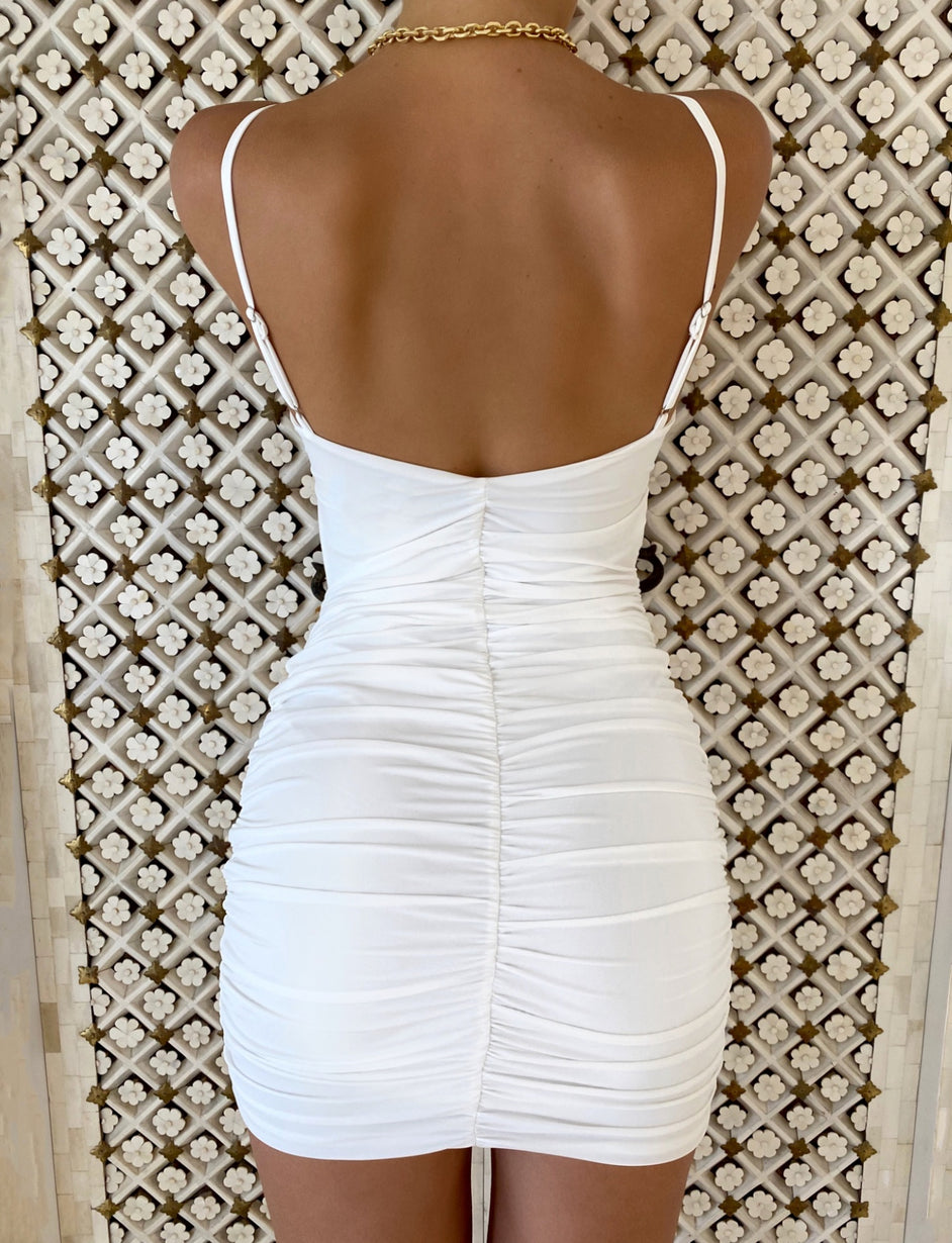 JEANIE DRESS - WHITE