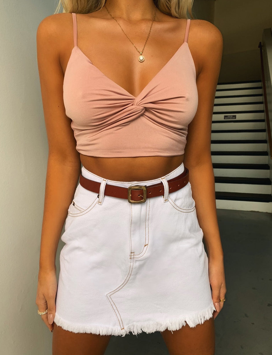 Jade Skirt - White