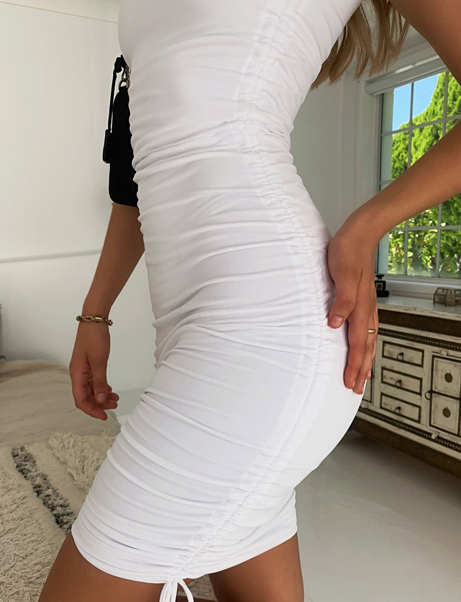 DAHNA DRESS - WHITE