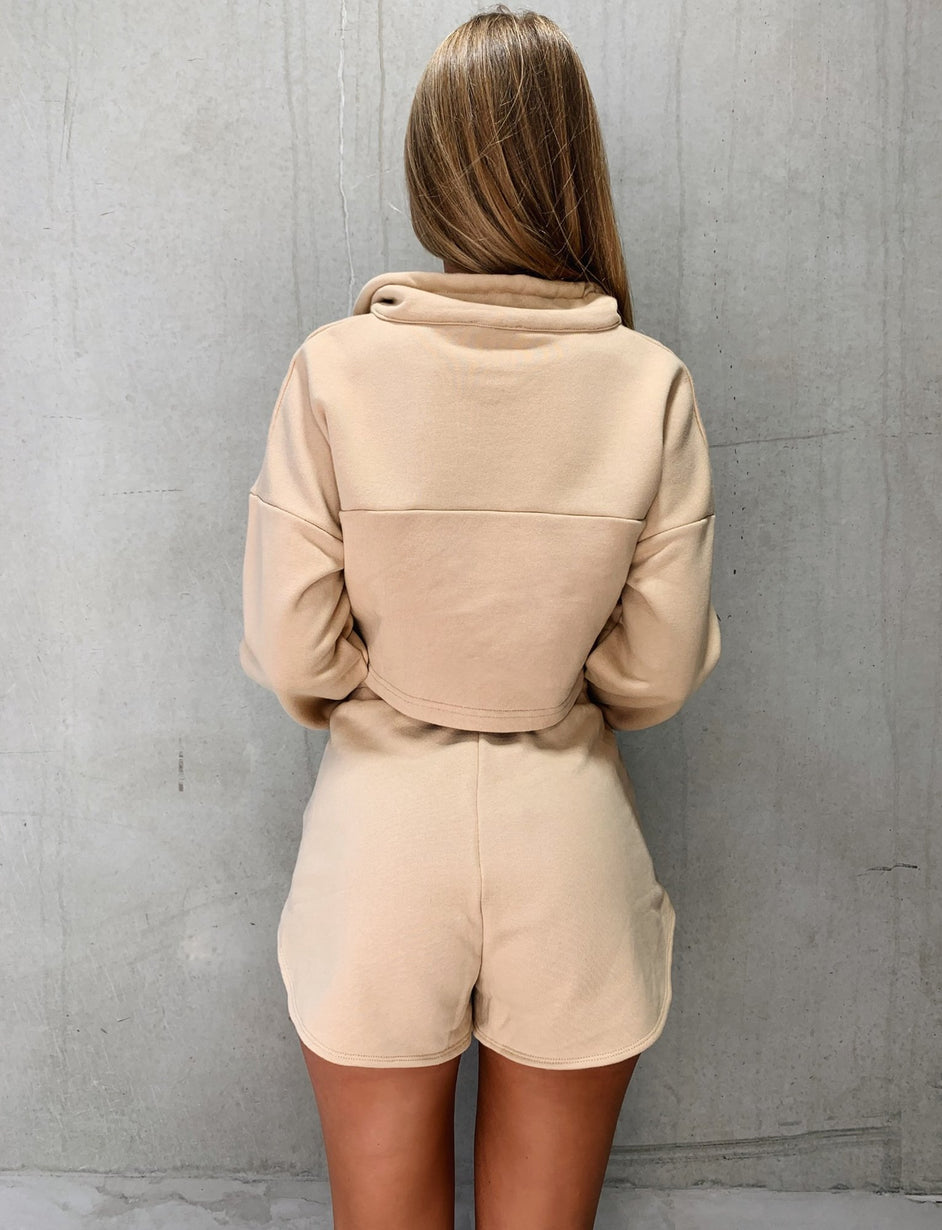 Zanya Zip Thru Jumper - Tan