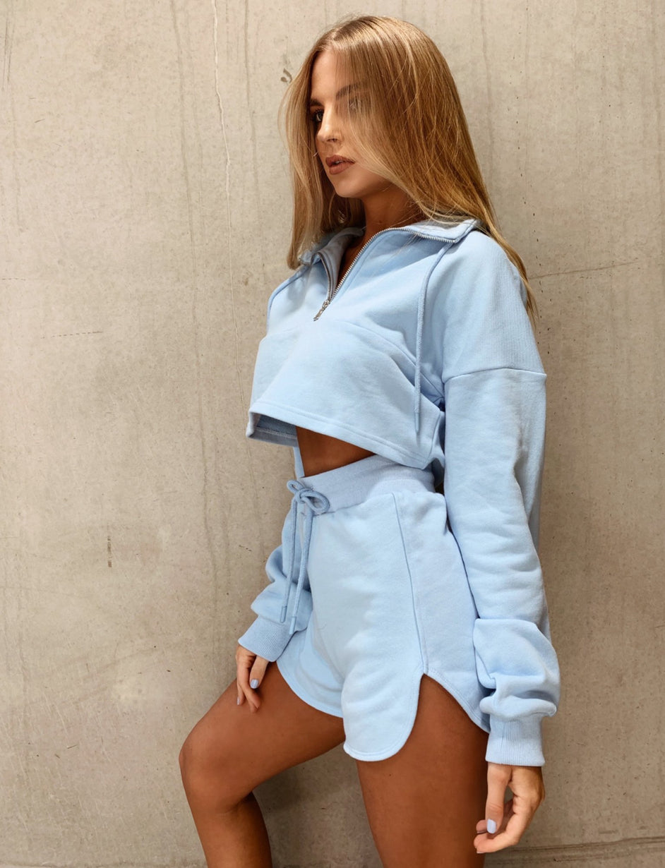 Zanya Zip Thru Jumper - Blue