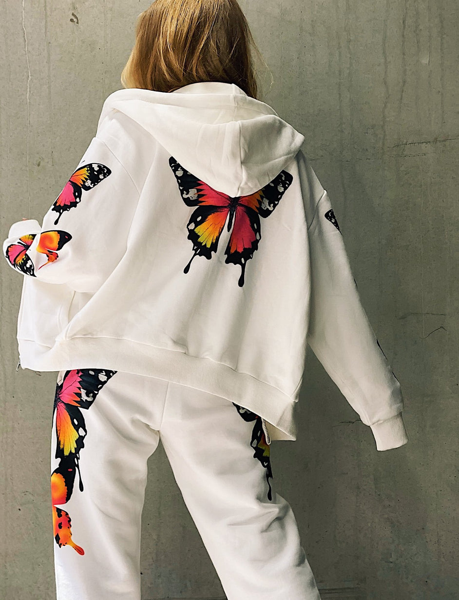 Aporia Jacket - Butterfly Print
