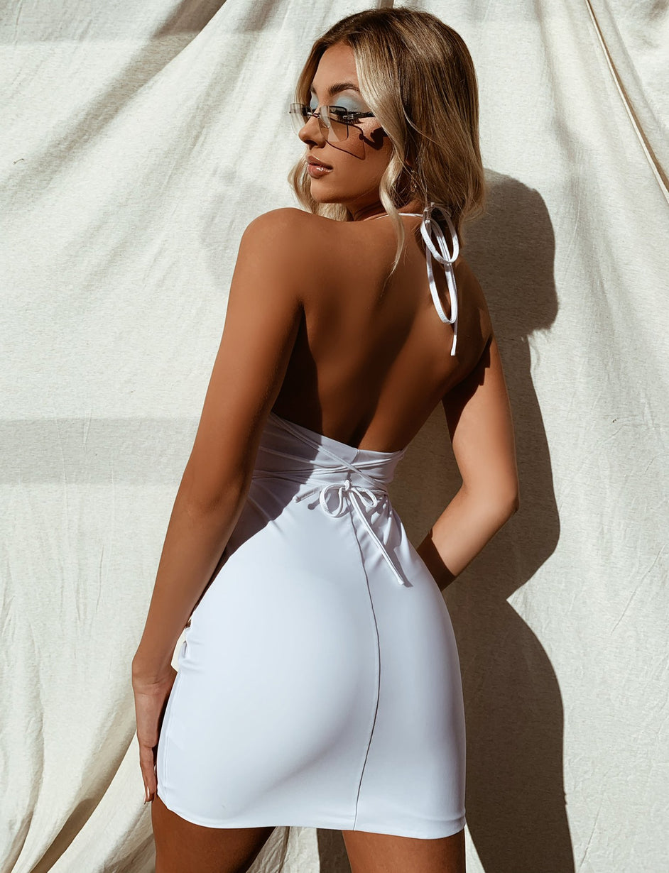 Slingshot Dress - White