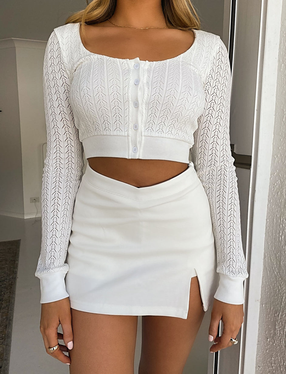 Moselle Top - White