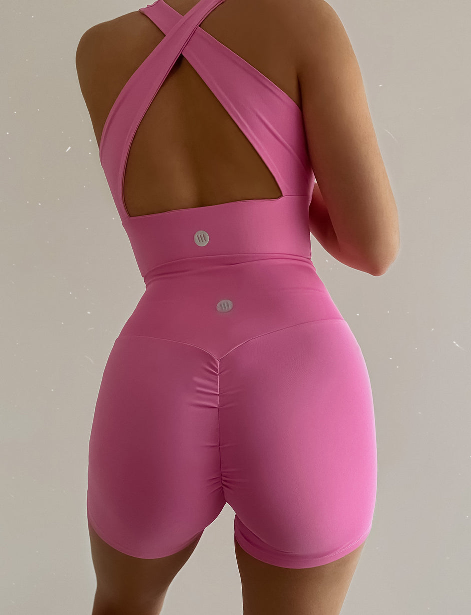 Work It Longline Top - Pink