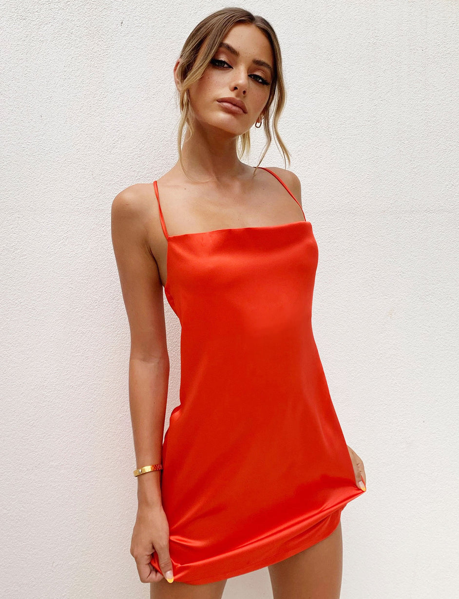 BRIDGETTE DRESS - RED
