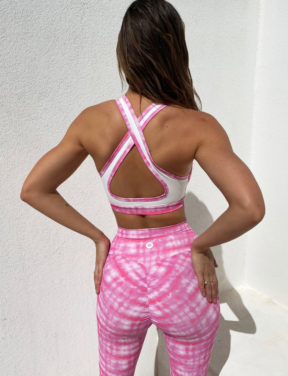 Freedom Sports Bra - Pink Tie Dye