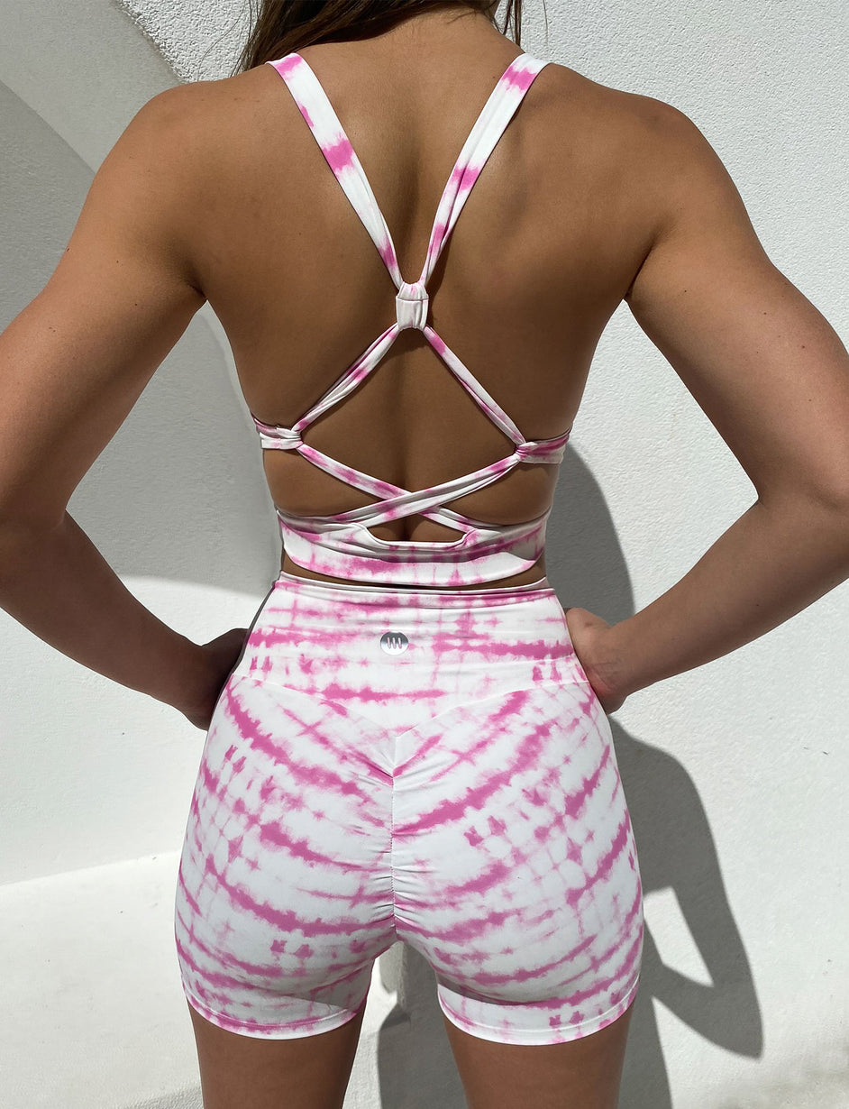 Dominate Bike Short - Pink Tie Dye