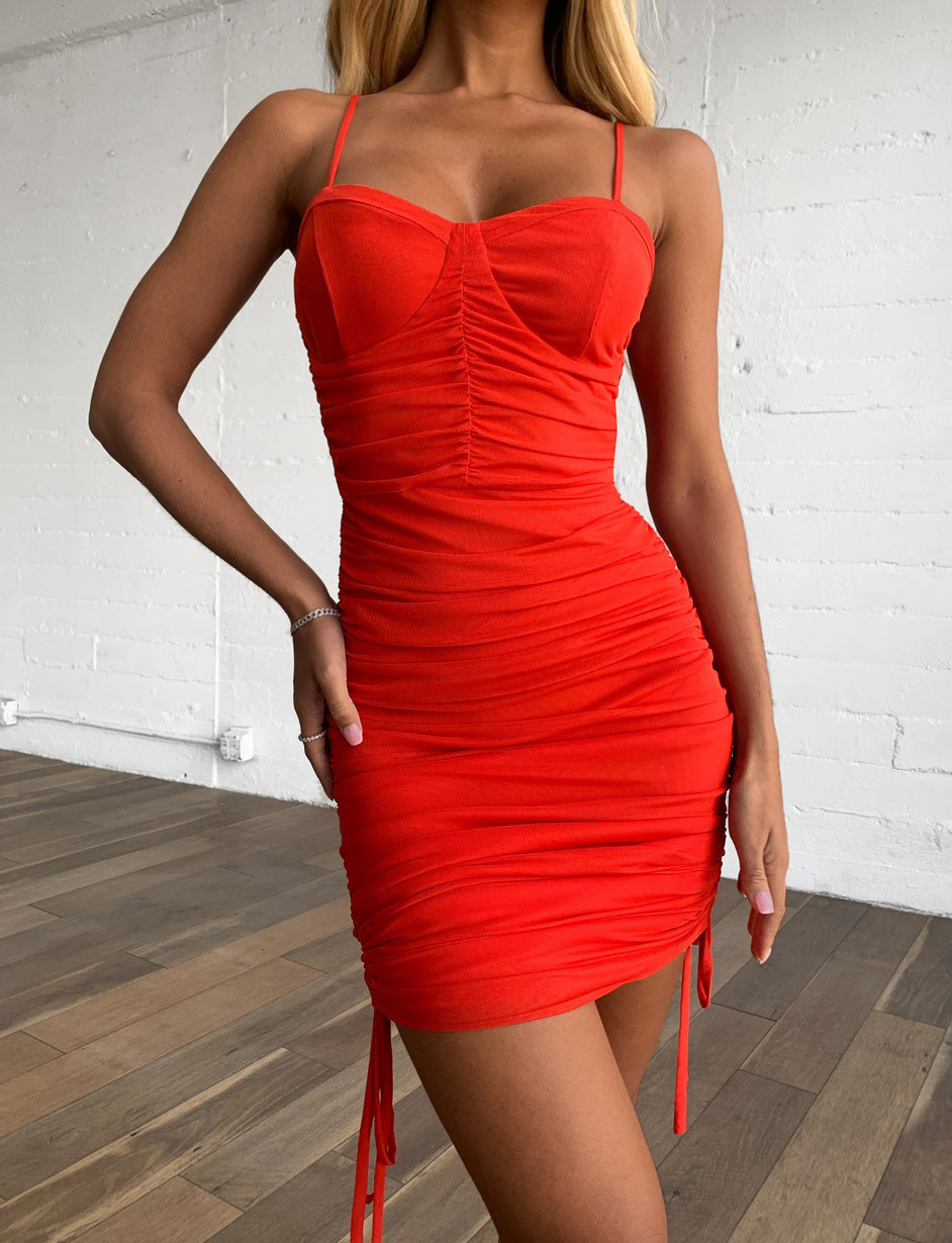 AMY DRESS - RED