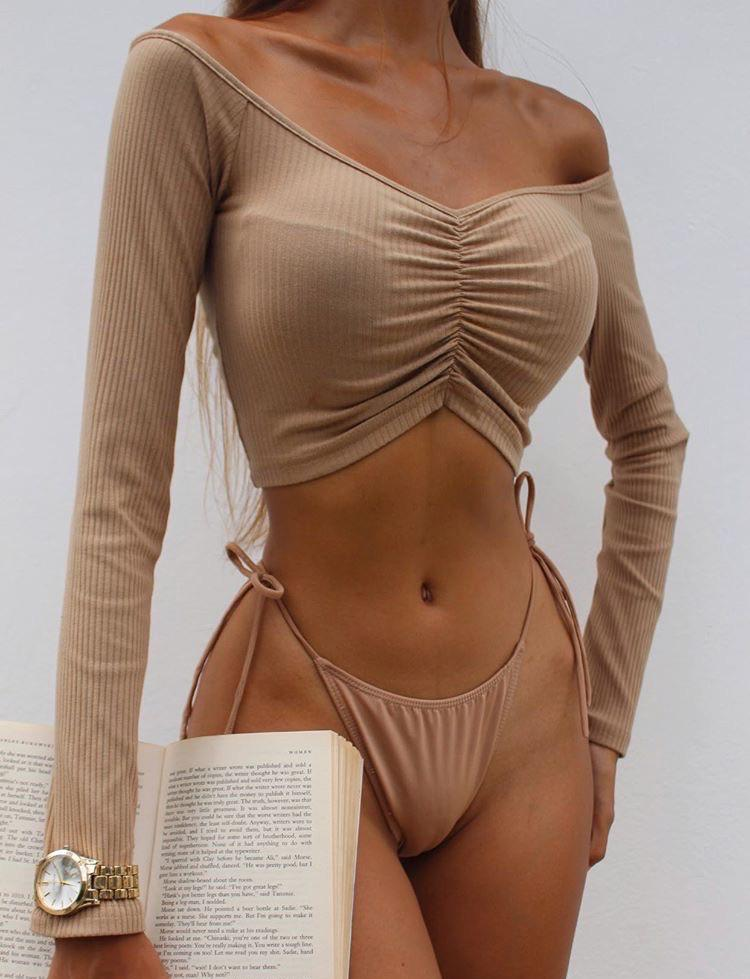 Sweetheart Crop - Tan