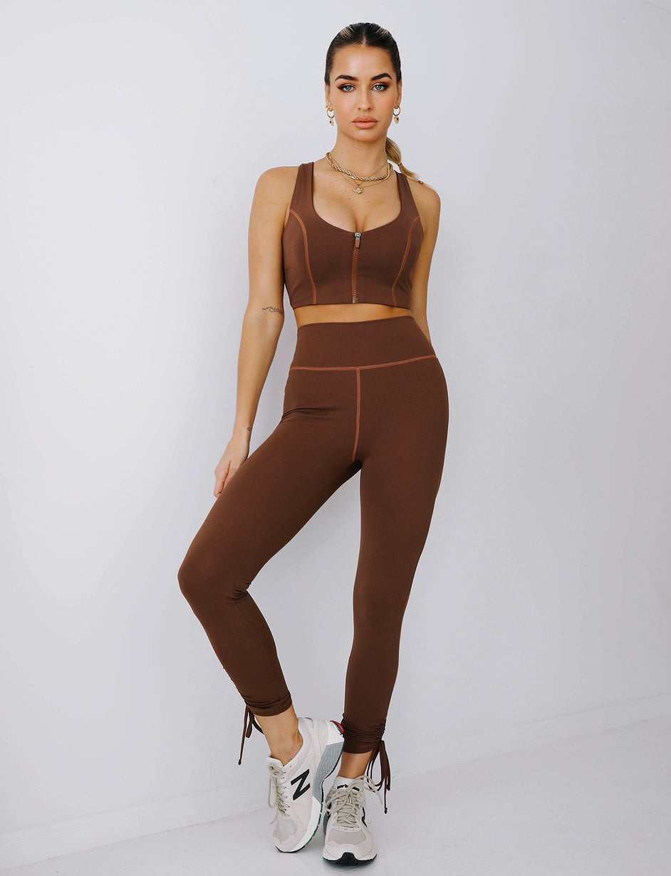 ON BEAT TIGHTS - CHOCOLATE